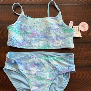 Girls Reversible Two Piece Swimsuit